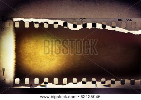 Film negative frame filmstrip background