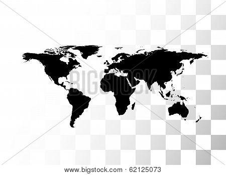 Vector black world map