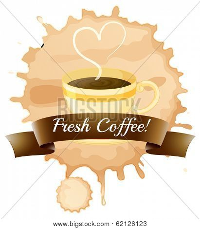 Illustration of the fresh coffee on a white background