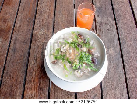riceporridge breakfast