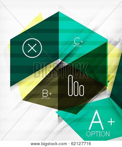 Futuristic blocks geometric abstract background with infographic options