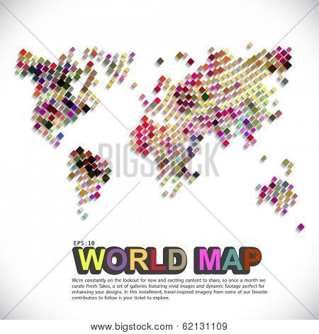 colorful & dotted world map