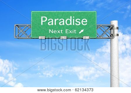 Highway Sign - Paradise..