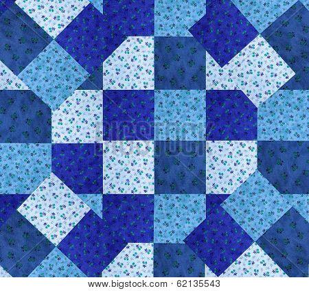 blue quilt design
