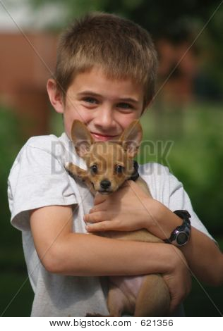 Boy And His Puppy