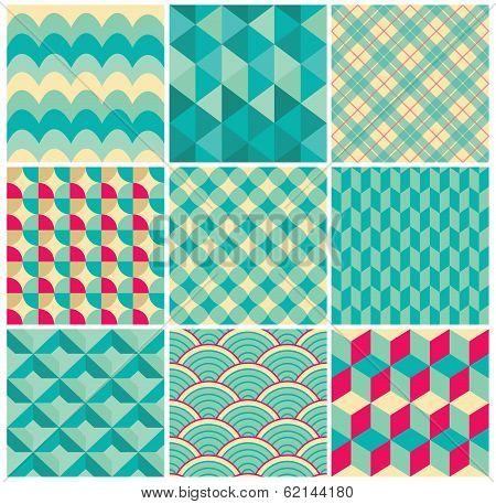 Vector Geometric Background Pattern Set
