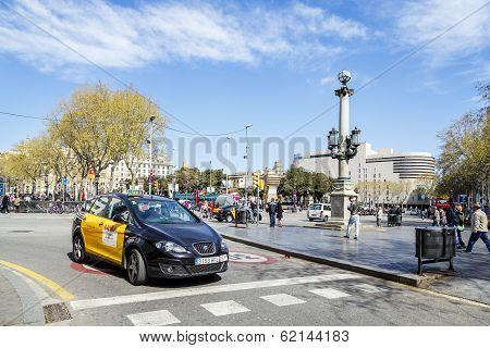 Placa De Catalunya Catalonia Square. Barcelona