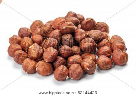 Pile Of Peeled Hazelnuts