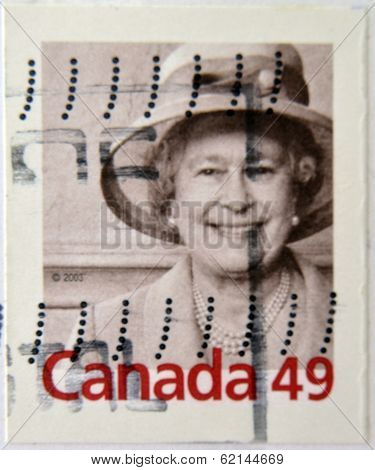 CANADA - CIRCA 2003: A stamp printed in Canada shows Queen Elizabeth II circa 2003