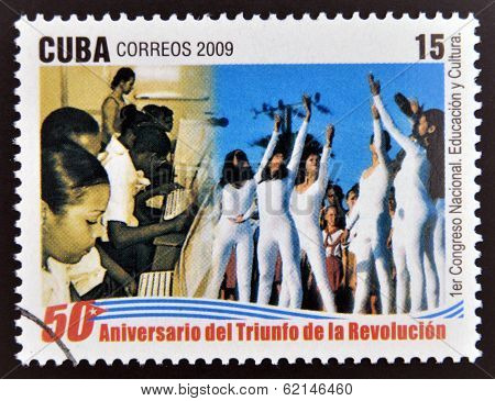 stamp dedicated to 50 anniversary of the triumph of the revolution, First National Congress