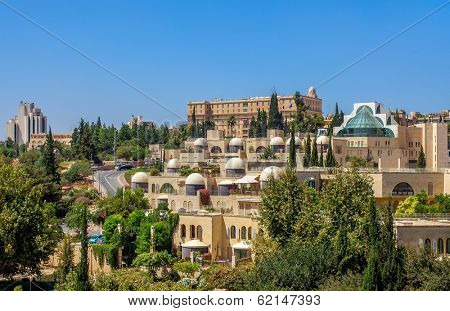 View of modern residential buildings in Jerusalem, Israel.