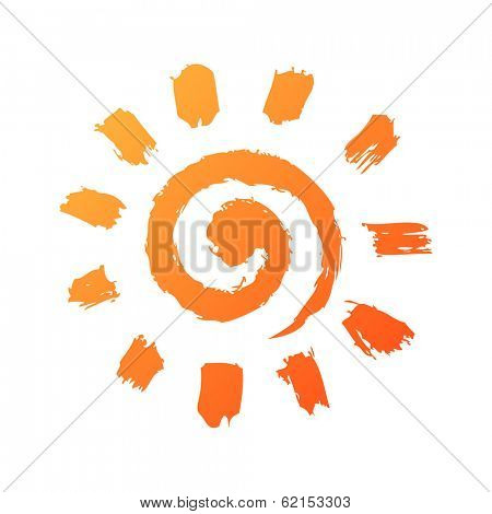 hand drawn sun icon