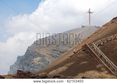 Cross at Masaya Volcano Crater