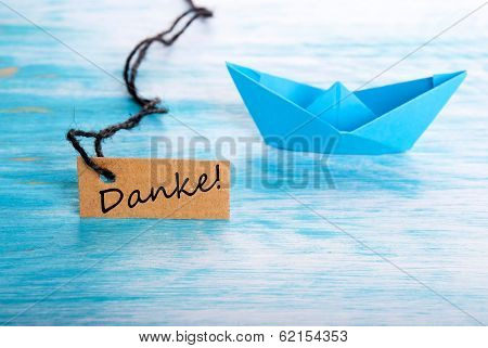 Danke As Boat Background