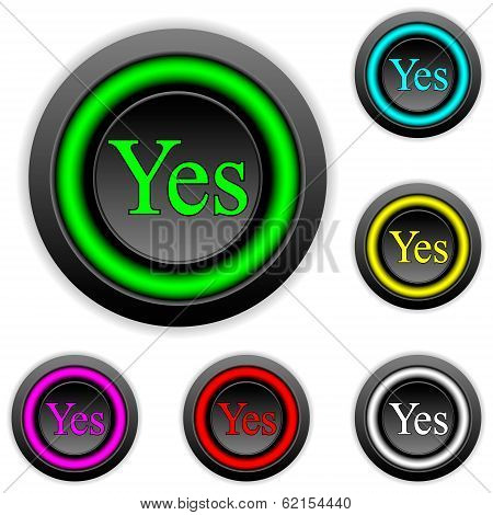 Yes Buttons Set