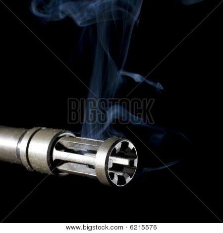 Muzzle Brake And Smoke