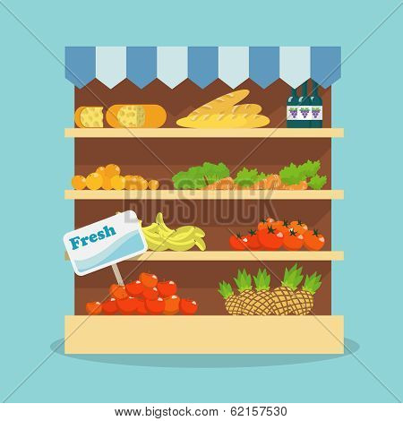 Supermarket food collection