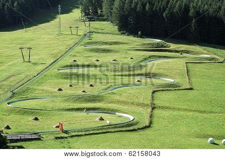 Skeleton Track In Italy