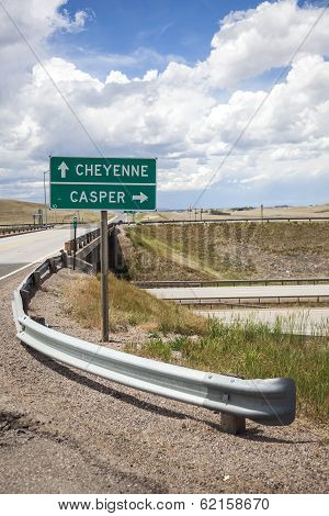Casper Direction Sign