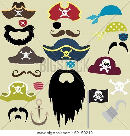 Set of Pirates Elements - Illustration