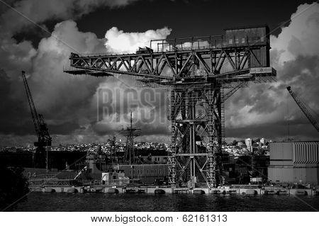 Hammerhead crane in Garden Island Naval Base,Sydney