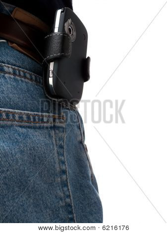 Jeans Back Pocket with PDA on hip