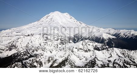 Aerial View of Mt Rainier