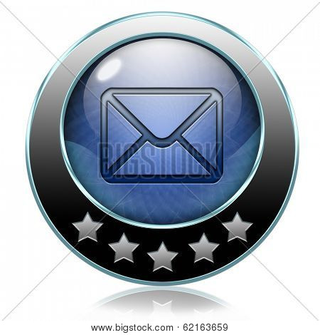 mail box or e-mail button or icon inbox