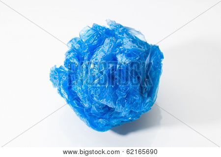 blue polyethylene bundle on white
