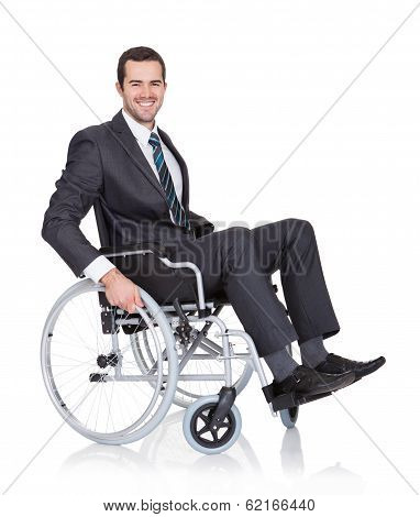 Young Businessman In Wheelchair