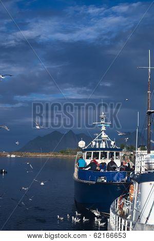 Boat in Svolvaer, Norway