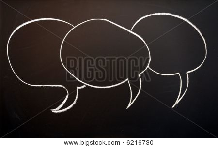 Chalkboard And Speech Bubble