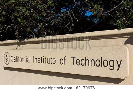 Caltech Entrance Sign