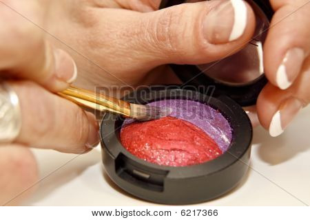 Colorful Cosmetic With Brush