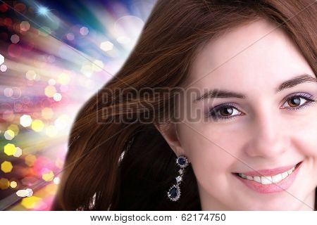 Holiday Fashion Girl Portrait
