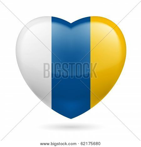 Heart icon of Canary Islands