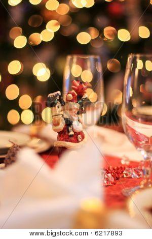 Santa And Christmas Lights