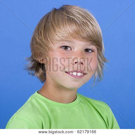 adorable young happy boy