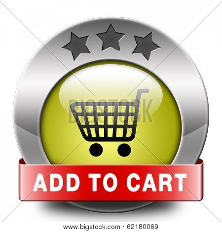 Add to shopping cart now icon go to the online webshop, internet web shopping button