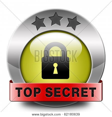 top secret icon confidential and classified information private property or information sign or button