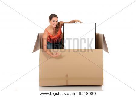 Chat Box Woman Advertizing