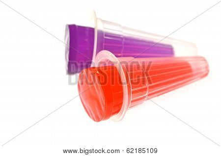Red And Purple Gelatin