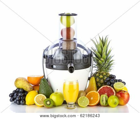 Fruits and juicer