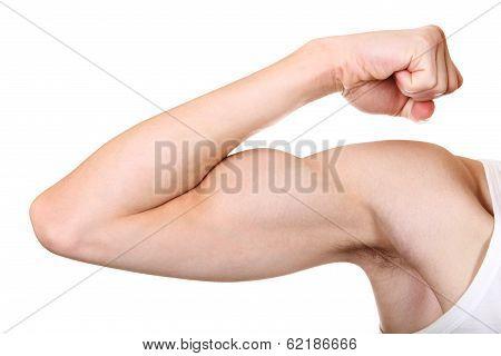 Muscle Flexing Closeup
