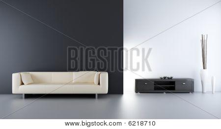 Wohnzimmer-Einstellung