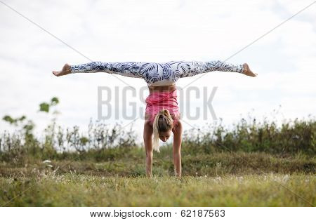 Girl training outdoor