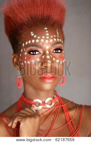 Beautiful Expressive African American Woman With Dramatic Lighting