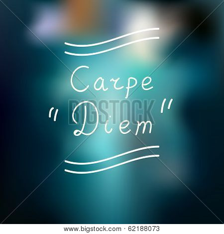Typographic design. Carpe Diem