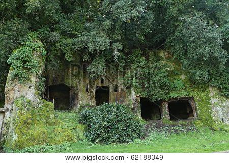 Etruscan Necropolis Of Sutri