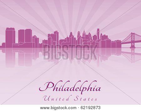 Philadelphia Skyline In Purple Radiant Orchid